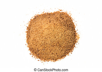 Coconut sugar isolated on white background