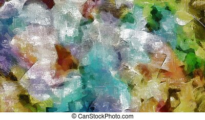 Colorful Abstract Painting. Tempera.