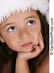 Christmas girl - Beautiful brunette girl wearing a christmas...