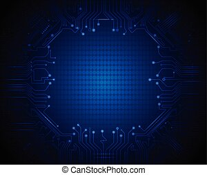 2Blue abstechnology-circuit lines3 - Vector abstract...