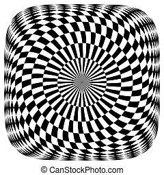 Op art pattern.