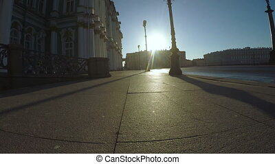 Palace Square in St. Petersburg - RUSSIA, SAINT PETERSBURG,...