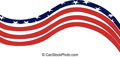 USA Flag background template