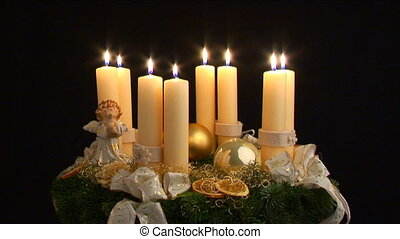 fourth advent part II - advent wreath being lit part II