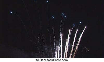 different colored firework from stars