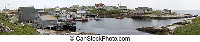 Panoramic View of Peggys Cove, NS - Peggys Cove is said to...