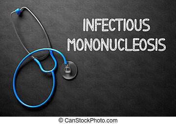 Chalkboard with Infectious Mononucleosis. 3D Illustration.