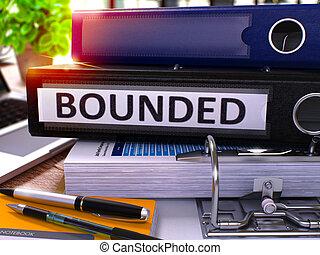 Black Office Folder with Inscription Bounded 3D Render -...