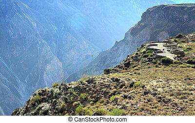 Peru - observation square quot;Cruz del Condorquot; - COLCA,...