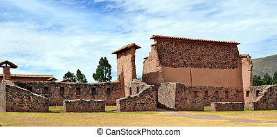 Historical ruins of the Spanish conquerors - CUSCO, PERU -...