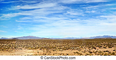 Peruvian Nasca desert panorama - Fragment of the Peruvian...