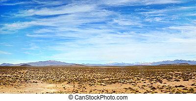 Peruvian Nasca desert panorama - Fragment of the Peruvian...
