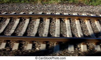 Rail road in motion