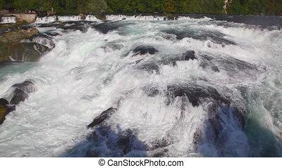 Rhine waterfall in Switzerland.