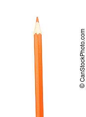 Orange pencil vertically