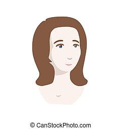 Girl head vector icon