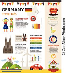 Germany Travel Info - poster, brochure cover template -...
