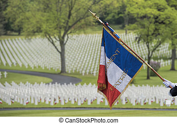 memorial day at the American cemetery in France