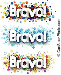 Bravo colour banners - Bravo colour banners set Vector paper...