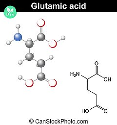 Glutamic acid chemical structure - Glutamic acid - main...