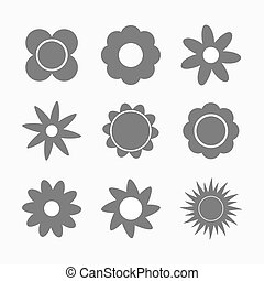 Set of flowers shapes