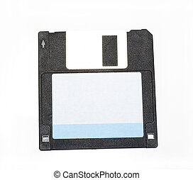Diskette is black isolated on a white background