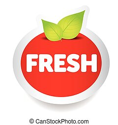 Fresh food label vector