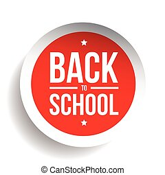 Back to School sign button