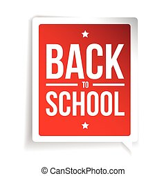 Back to School sign speech bubble