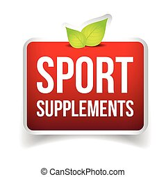 Sport Supplements vector sign