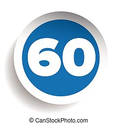 Number sixty icon vector