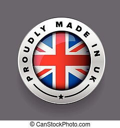 Proudly Made in The UK silver badge