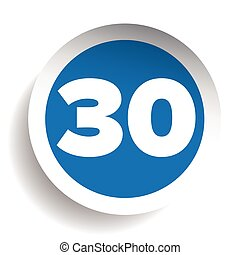 Number thirty icon vector