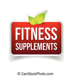 Fitness Supplements vector sign
