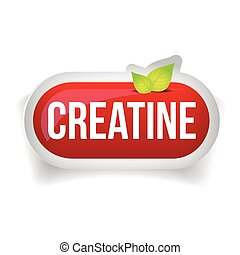 Creatine button or pill - Fitness supplement