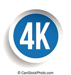 4K ultra HD icon - High Definition vector