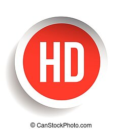 HD button - High Definition vector