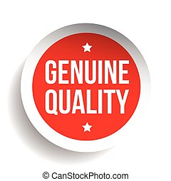 Genuine Quality vector sticker red