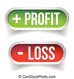 Profit and Loss Stock chart button vector