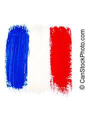 Brushstroke Flag of France