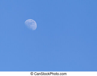 The Moon in a sky