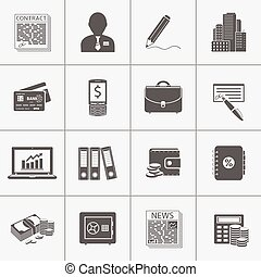Business & finance icons set
