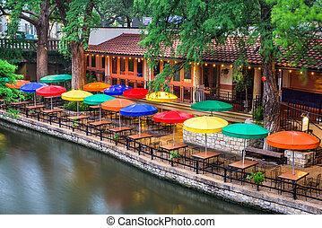 River Walk San Antonio - San Antonio, Texas, USA cityscape...