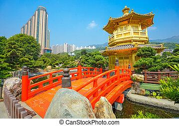 Nan Lian Garden - Golden Pavilion of Perfection in Nan Lian...