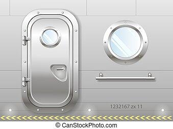 Door and window of the ship - The door and window of the...