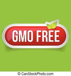 GMO free icon vector button