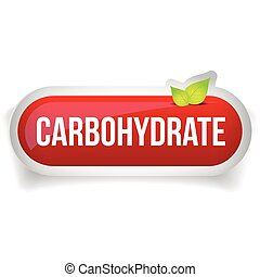 Carbohydrate button vector red