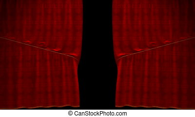 Curtain up and down Alpha - Curtain up, with beautiful cloth...