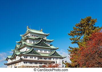 Nagoya, Japan Castle - Nagoya, Japan at the castle during...