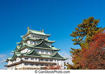 Nagoya, Japan Castle - Nagoya, Japan at the castle during...